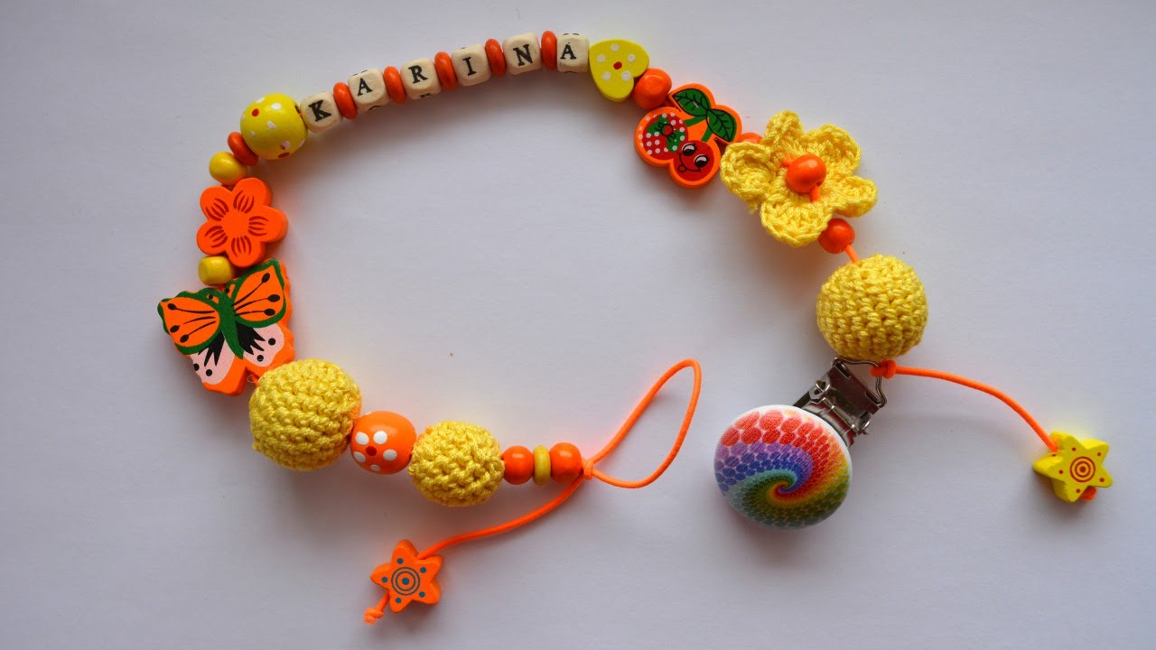 Crochet A Colorful Pacifier Clip Diy Crafts Guidecentral Youtube