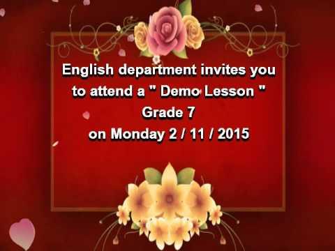 Al zamels demo lesson invitation youtube al zamels demo lesson invitation stopboris Gallery