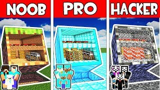 Minecraft - NOOB vs PRO vs HACKER : FAMILY SECRET BLOCK HOUSE in Minecraft Animation