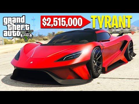 GTA 5 *NEW* $3,000,000 TYRANT SUPERCAR!! GTA 5 Online DLC Update