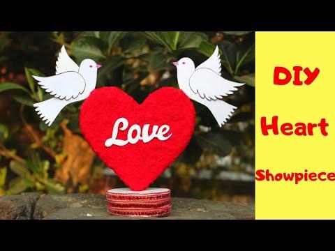 DIY Heart Showpiece / Handmade Valentine's Day Gift ideas 2019 / Best out of Waste