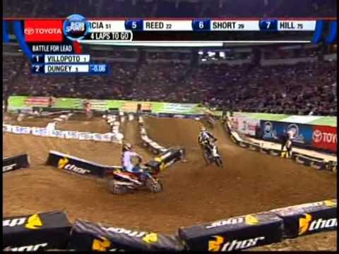 Ryan Dungey & Ryan Villopoto battle at Minneapolis Metrodome 4-13-13