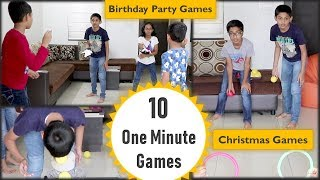 10 One minute games | Christmas party games | party games for Kids and kitty party (2019)