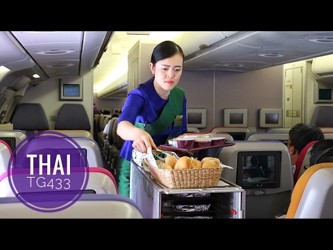 THAI AIRWAYS TG433 SMOOTH AS SILK BANGKOK TO JAKARTA