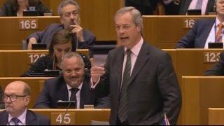 Schlagabtausch im EU-Parlament: Farage stellt Forderungen, Juncker kontert