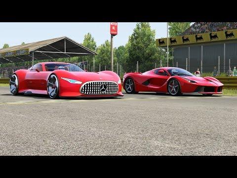 Mercedes-Benz AMG Vision GT Vs Ferrari LaFerrari At Monza Full Course