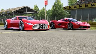 Mercedes-Benz AMG Vision GT vs Ferrari LaFerrari at Monza Full Course