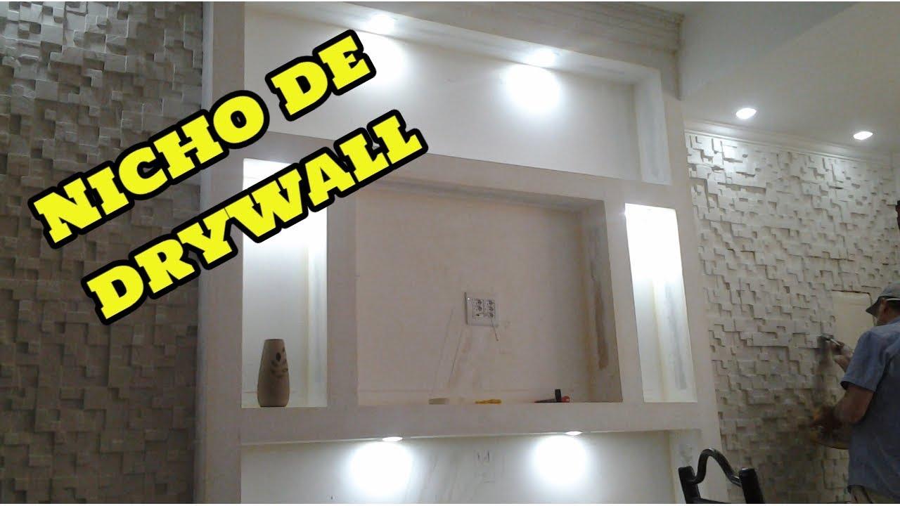 Como fazer estante e nicho de drywall com gesso 3d parte