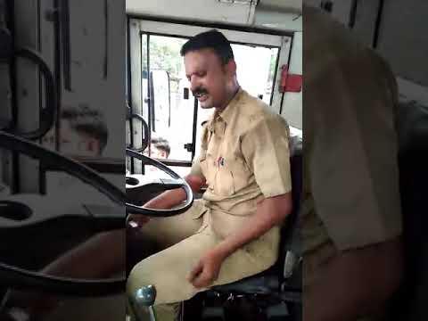 Pune pmpml bus driver drunk on duty, दारू पिउन बस चालवतोय हा ड्राईवर, pune pmt bus driver