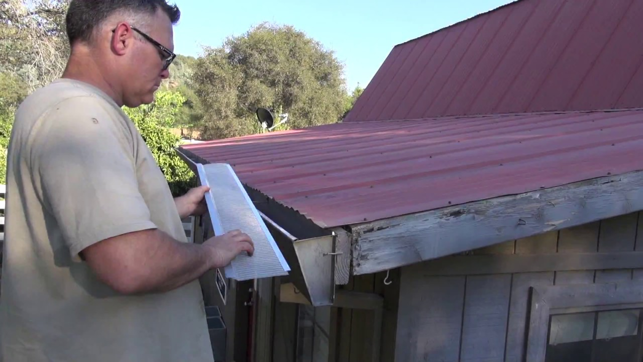 Installing Gutter Guards On A Corrugated Roof By Gutterglove Youtube