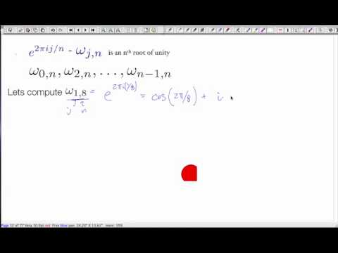 Lecture 8 - Algorithms: The Fast Fourier Transform ( FFT)
