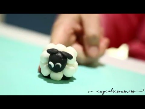 How To Make A Sheep From Fondant Farm Animal Youtube