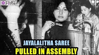 Jayalalitha Saree  Was Pulled In Assembly In 1989  || Jayalalitha Crying After The Incident