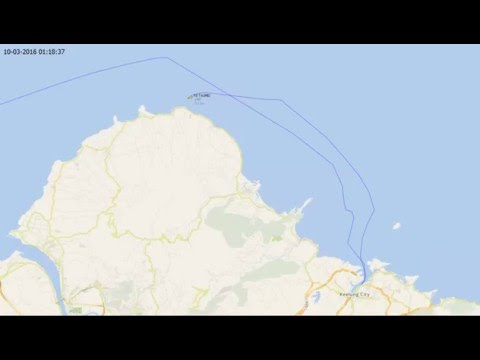 Splitted in two Container ship TS Taipei last movements