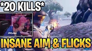 Ninja Shows Off Insane AIM & FLICKS! Better Than Tfue Fortnite Daily Moments Highlights