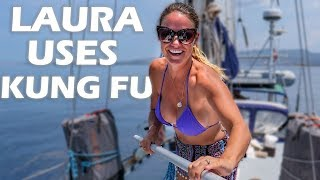 laura-uses-kung-fu-in-greece-s4-e23