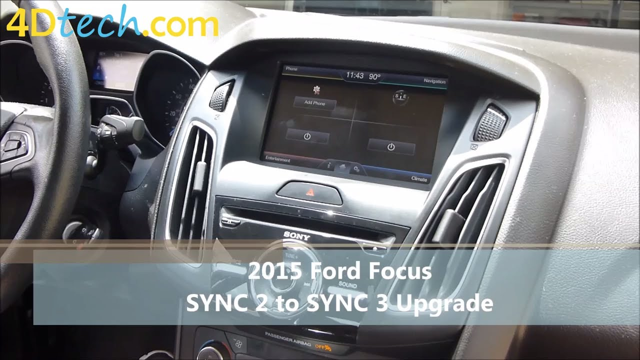 sync 2 to sync 3 upgrade 2015 ford focus youtube. Black Bedroom Furniture Sets. Home Design Ideas