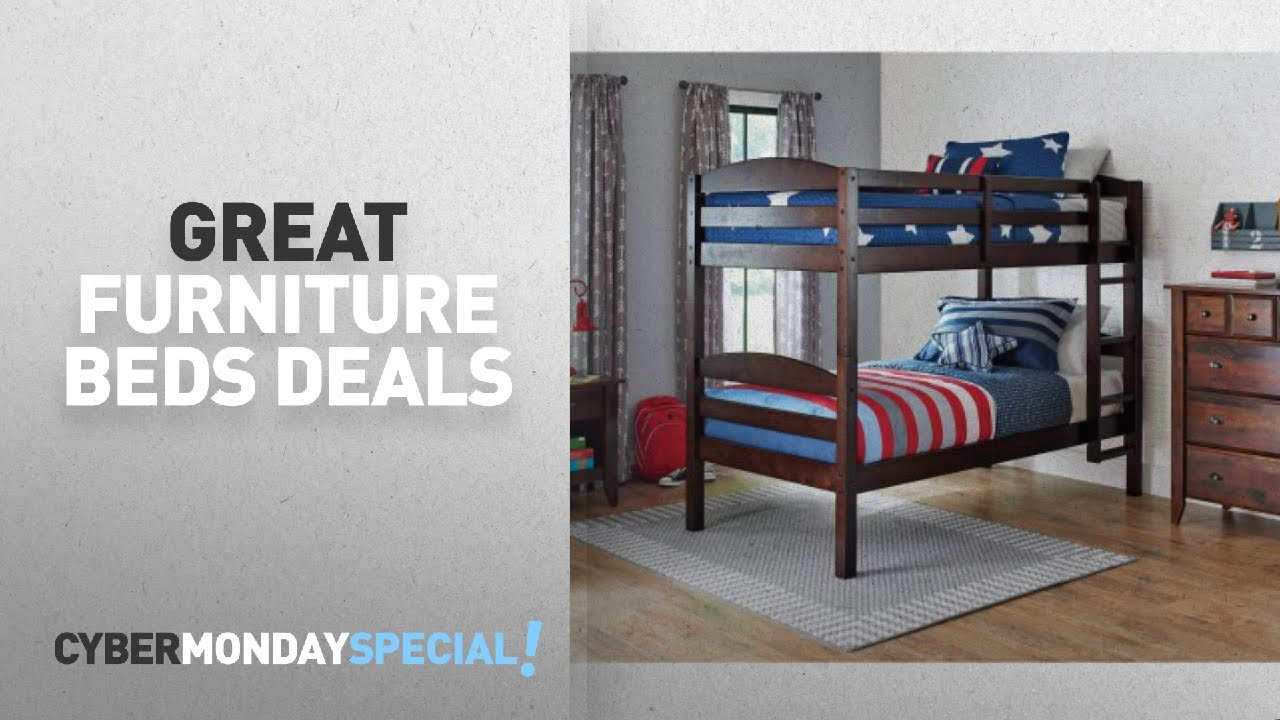 Walmart Top Cyber Monday Furniture Beds Deals: Better Homes And Gardens  Leighton Twin Over Twin Wood