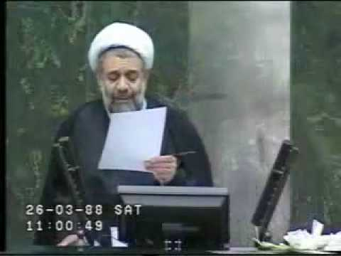 Ali Khani (MP) defends Mousavi at the Iranian parliament June 2009