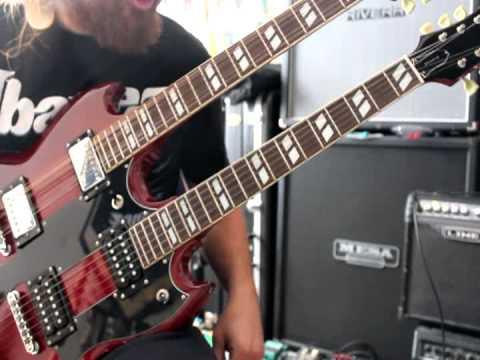 1996 Gibson Epiphone Sg G 1275 Double Neck Electric Guitar Demo