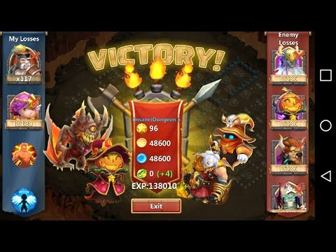 HOW TO 3 FLAME INSANE DUNGEON 5-10!!! -CASTLE CLASH