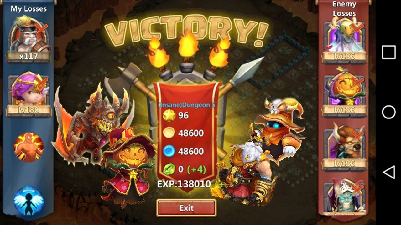 How To 3 Flame Insane Dungeon 5 10 Castle Clash Youtube