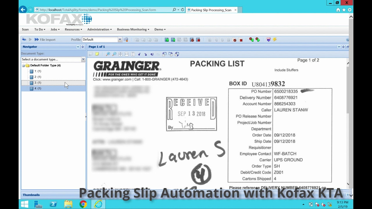 Watch the Demo: Packing Slip Automation with KTA