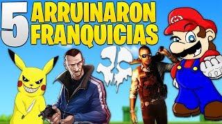 TOP 5 LOS PEORES VIDEOJUEGOS QUE ARRUINARON SAGAS FAMOSAS