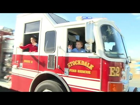 6-Year-Old Shot in Sutherland Springs Massacre Gets Big Firetruck Homecoming