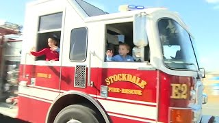 6-Year-Old Shot in Sutherland Springs Massacre Gets Big Firetruck Homecoming thumbnail