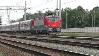 Электровоз ЭП20 061 ТЧЭ 6 со скорым фирменным поездом Анапа Москва № 012М Москва   Анапа.