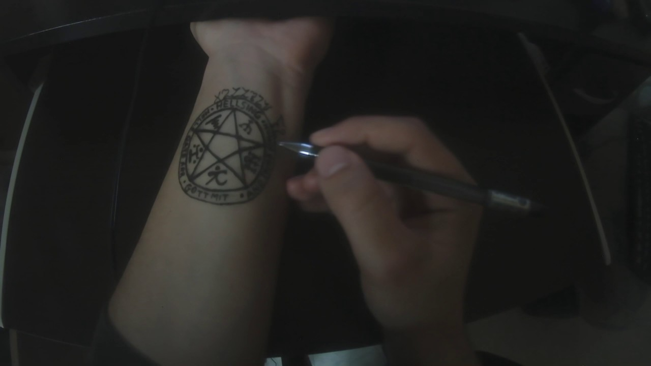 Hellsing Alucard S Tattoo Youtube