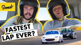 Kyle Hill Battles the Laws of Physics at THE RACE TRACK | HOT LAP