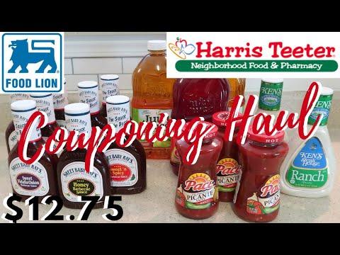 $12.75 EASY COUPONING FOOD LION & HARRIS TEETER