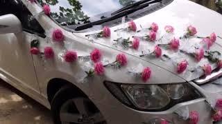 украшение машин на свадьбу фатином своими руками