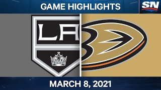 NHL Game Highlights | Kings vs. Ducks - Mar. 8, 2021