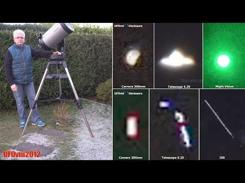 UFO ALIEN Sightings By My Telescope (Explanation) Color Night Vision Camera
