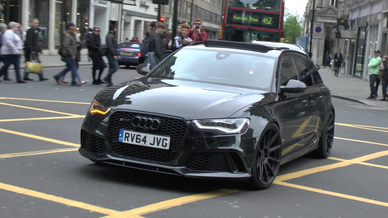 One Seriously Loud Audi Rs6 In London Youtube