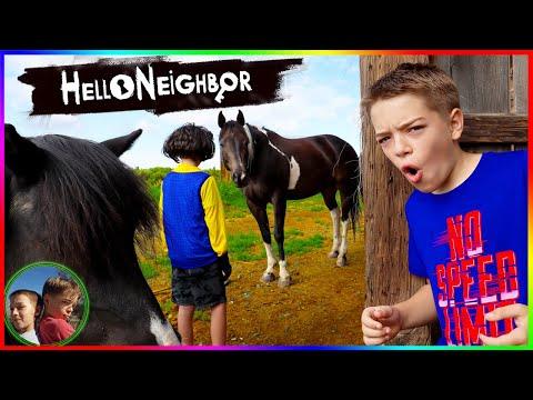 Escape Hello Neighbors Farm!  Hello Neighbor In Real Life Game! |