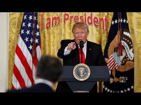 President Trump's press conference at the White House