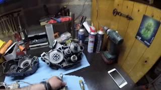 KTM SX 125 2011   demontage moteur complet a cause d'un serrage