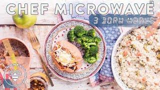 3 Healthier MICROWAVE Dorm Meals - $40 Trader Joe's Haul 🤑😋