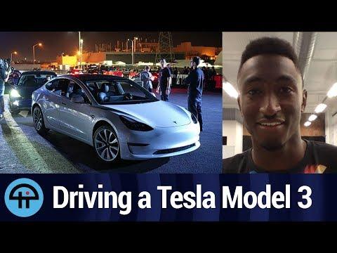 Driving a Tesla Model 3