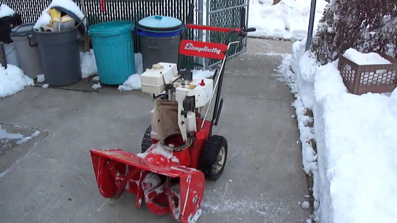 Simplicity snowblower I am selling on craigslist