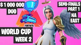 Fortnite World Cup WEEK 2 Highlights - Semifinal Part 1 NA EAST DUO Day 1 [Fortnite Tournament 2019]