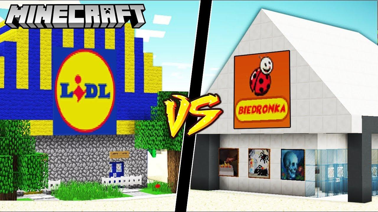 LIDL VS BIEDRONKA W MINECRAFT!!! || GPLAY VS VITO MINECRAFT CHALLENGE!