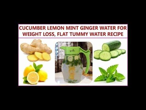 CUCUMBER LEMON GINGER MINT DETOX DRINK |Lose 5 lbs. In 1 Week | Flat Tummy  Detox Recipe
