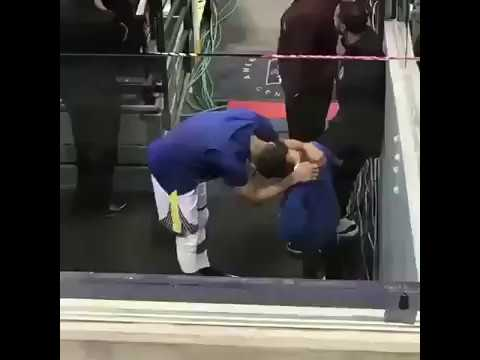 Steph Curry having Heart to Heart with Young Fan