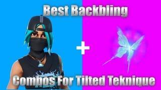 *NEW* Fortnite Tilted Teknique Skin Best Backbling Combos!!