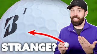 These Bridgestone golf balls have WEIRD dimples! Do they go LONGER?